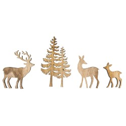 Miniature wooden tree and deer