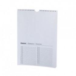 Perpetual Calendar A4 White