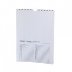 Calendrier perpétuel A4 Blanc