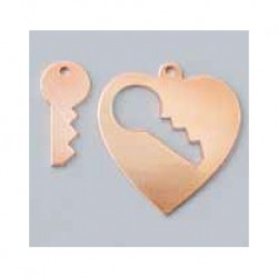 Heart pendant with key