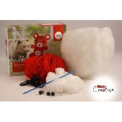 Kit : Ours crocheté
