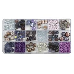 Boîte de perles en verre,...