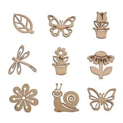 Miniatures en bois Printemps