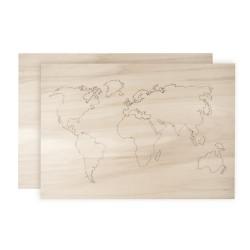 Mappemonde en bois