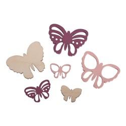 Wooden miniatures butterflies