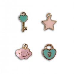 set van 4 charms