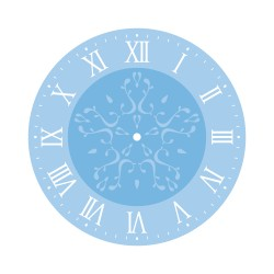 Stencil kit for clock