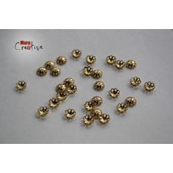30 Capuchons à perles 6 mm