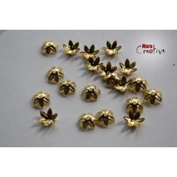 20 Capuchons à perles 10 mm