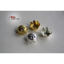 12 Bead Caps 10 mm