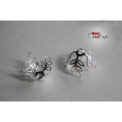 6 Capuchons à perles 14 -18 mm