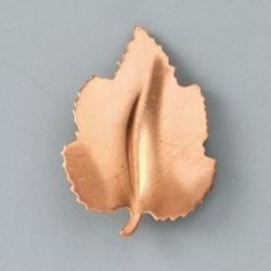Engraved leaf pendant