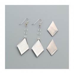 Rhombus dangle earrings