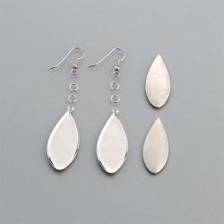Dropped dangle earrings