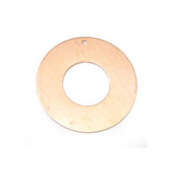 1 hole donut pendant