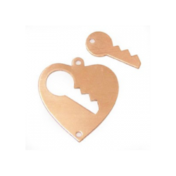 Heart pendant with 2 holes key