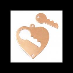 Pendentif Coeur avec clé 2...