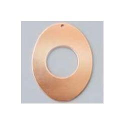 Pendentif ovale 1 trou