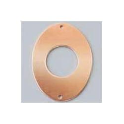 2 holes oval pendant
