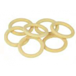 7 wooden rings 30 mm
