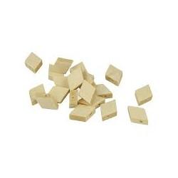 20 Diamond wooden beads