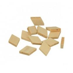 12 Diamond wooden beads