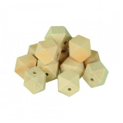 8 Polygon shaped wooden beads