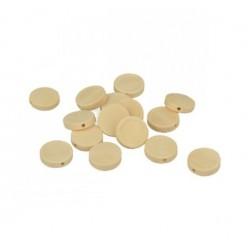 15 round wooden beads