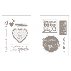 Daddy / mom transparent stamps