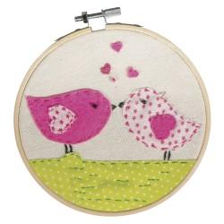 Kit : Broderie Love Birds