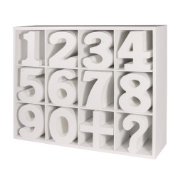 Numbers and symbols in Wood