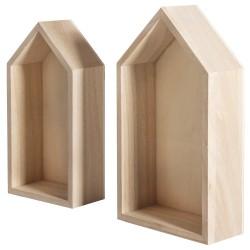 2 houten frame huizen G