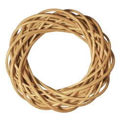 Wicker wreath, peeled, ø 30cm