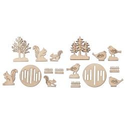 Miniatures en bois Forêt...