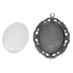 Metal frame: charm, antique...
