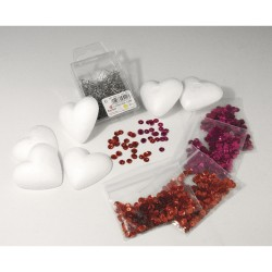 Sequin kit to pin, Heart