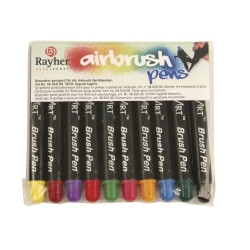 10 Air Brush markers