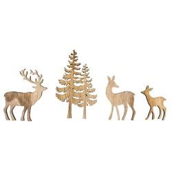 Miniatures en bois arbre et...