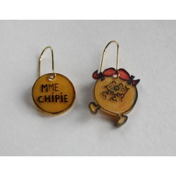 Boucles d'oreille Mme Chipie