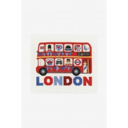 Kit broderie Londres Bus