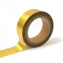 Masking tape – or pois blanc