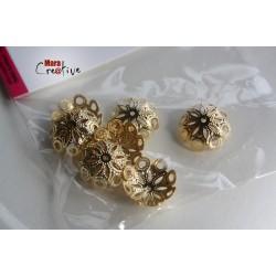 12 Capuchons à perles 14 mm