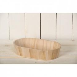 Corbeille ovale en bois