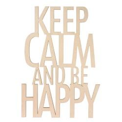 Texte en bois Keep Calm be...