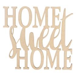 Texte en bois Home sweet home