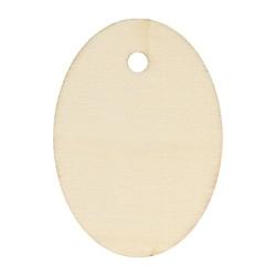 6 étiquettes en bois ovales