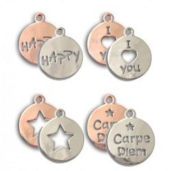 set 4 Médailles argentées...