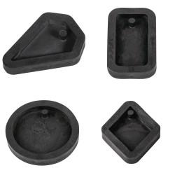 4 moules pour bijoux en béton