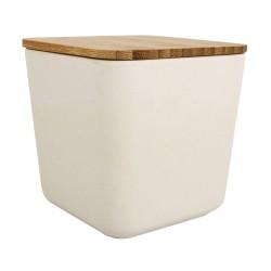 Boîte en bambou carrée
