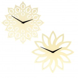 Horloge ronde Soleil ou fleur